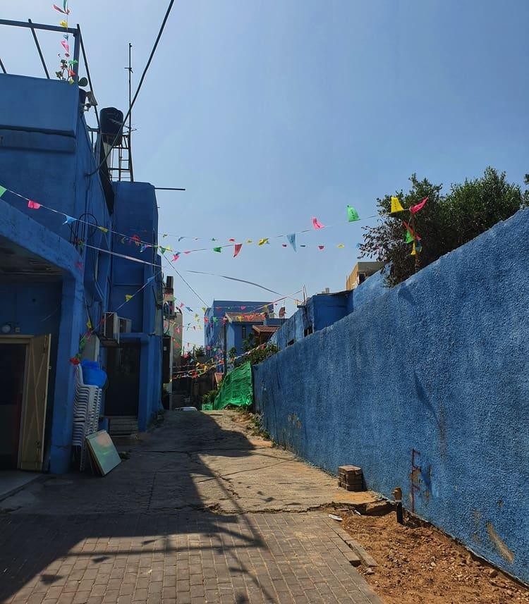 ג'אסר א זרקא - הבתים הכחולים - טיול במרכז הארץ