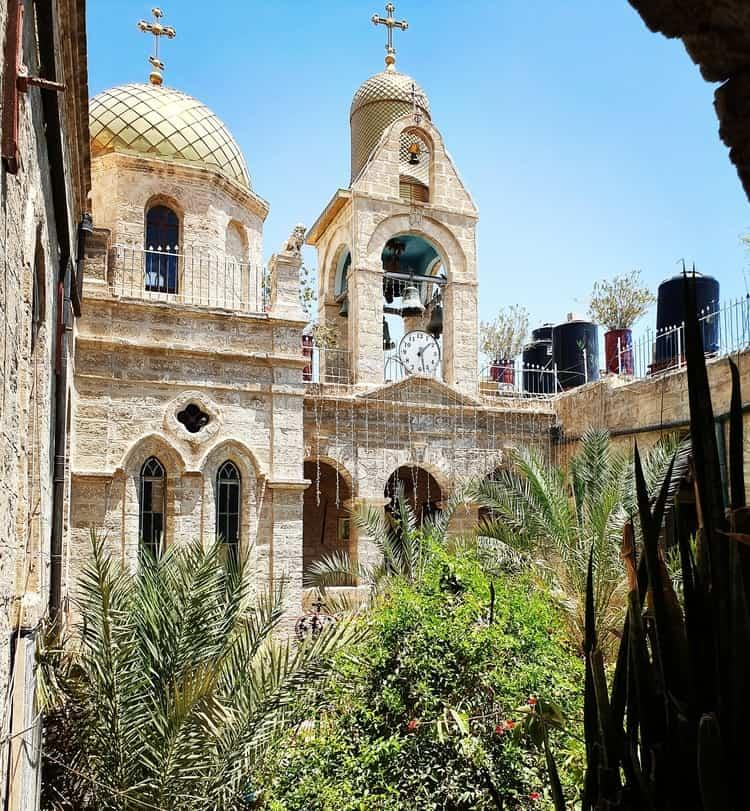מנזר דיר חג'לה - מנזר גרסימוס הקדוש - ארץ המנזרים - ים המלח - טיול קצר לשבת עם ילדים