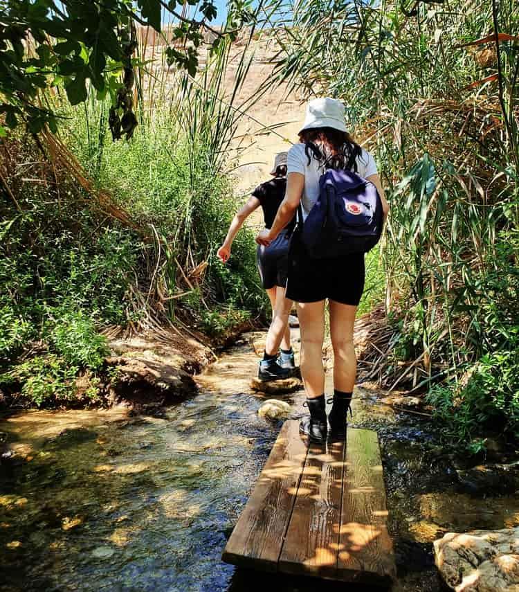 טיול מים - עין פרט עם ילדים - טיול בים המלח - טיול קצר לשבת