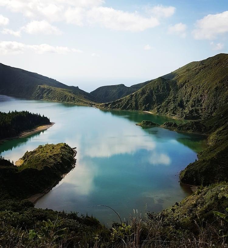 סאו מיגל - האיים האזוריים עם ילדים - Lagoa do fogo - אגם פוגו